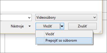Zobrazí sa dialógové okno Vloženie videa v PowerPointe