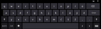 Dotyková klávesnica vo Windowse 8 bez klávesov Alt