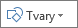 Tlačidlo Vložiť tvary v Exceli