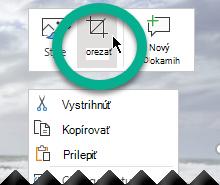 Kliknite pravým tlačidlom myši na obrázok, vyberte položku Orezať na paneli s nástrojmi, ktorý sa zobrazí nad obrázkom.