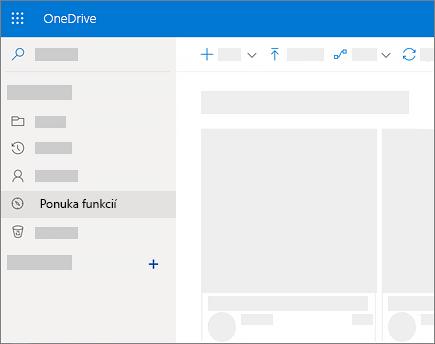 Snímka obrazovky zobrazenia Objavovanie vo OneDrive for Business