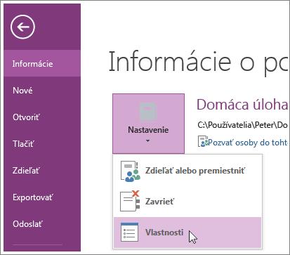 Inovovať na najnovšiu verziu programu OneNote môžete priamo z ponuky Súbor.
