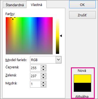 Nové a aktuálne farby výbery porovnať
