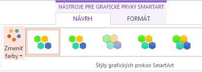 Tlačidlo zmeniť farby v skupine Štýly grafických prvkov SmartArt