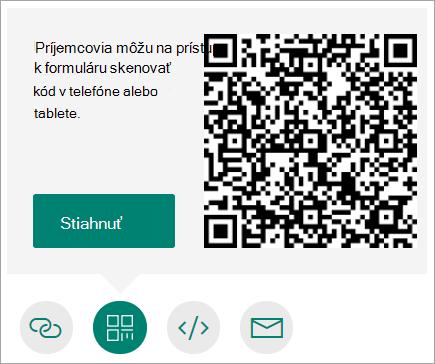 Odoslanie QR kódu do telefónu, ktorý si môžu používatelia naskenovať pomocou telefónu alebo tabletu
