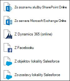 Získanie údajov zo služby Online