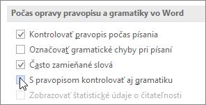 Začiarkavacie políčka Gramatika