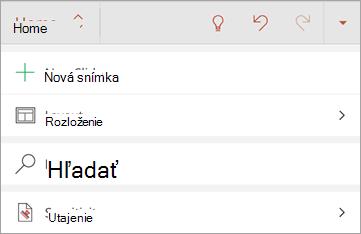 Snímka obrazovky s tlačidlom citlivosť v Office pre Android