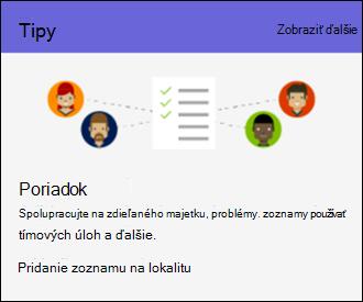 Používanie lokality SharePoint Online – tipy