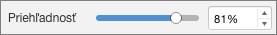 Jazdec priehľadnosti v PowerPointe pre Mac