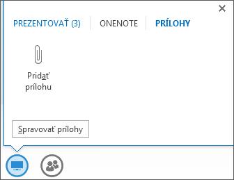 Snímka obrazovky pri pridávaní prílohy