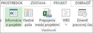 Obrázok tlačidla Informácie o projekte