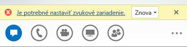 Snímka obrazovky s chybovým hlásením