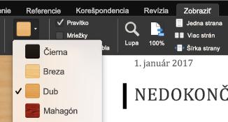 Režim čítania pre Office pre Mac