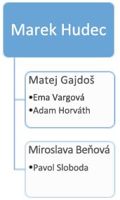Pred: existujúca organizačná schéma