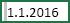 Bunka s vybratou medzerou pred hodnotou 1.1.2016