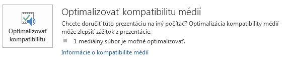 tlačidlo Optimalizovať kompatibilitu vPowerPointe