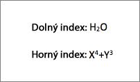 Príklad dolného ahorného indexu
