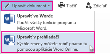 Edit in Word Online