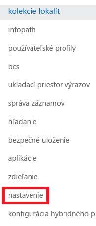 Snímka obrazovky spracovnou tablou Kolekcie lokalít