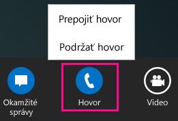 Snímka obrazovky sponukou prepojenia vLyncu