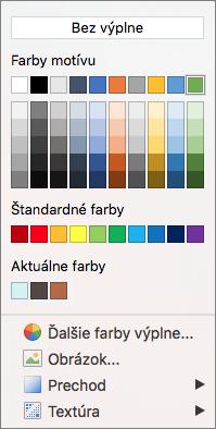 Možnosti farieb
