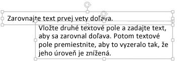 Dve textové polia formulárov opakovanej zarážky