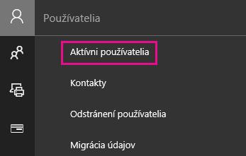 VCentre spravovania vyberte položku Používatelia a potom položku Aktívni používatelia