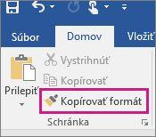 Kopírovanie formátu