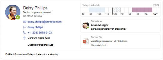 Snímka obrazovky s výsledkom pre osobu