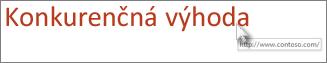 Odstránenie podčiarknutia z textu hypertextového prepojenia