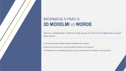 Snímka obrazovky s titulnou stranou 3D wordovej šablóny
