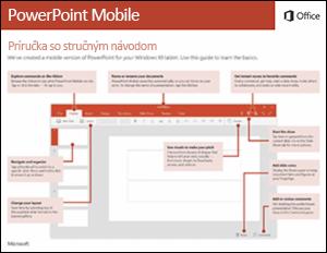 Príručka so stručným návodom pre PowerPoint Mobile