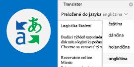 Čítanie e-mailov vOutlooku vpreferovanom jazyku