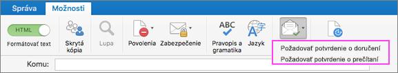 Oznámenia odoručení e-mailu.