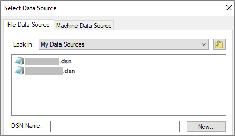 Dialógové okno Vybrať zdroj údajov