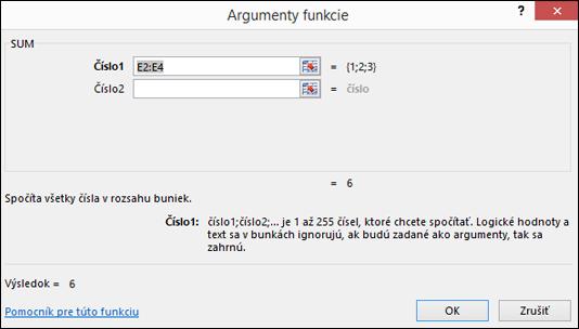 Sprievodca funkciou Excelu