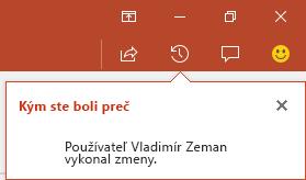 PowerPoint pre Office 365 vám ukáže, kto vykonal zmeny vo vašom zdieľanom súbore, kým ste boli preč