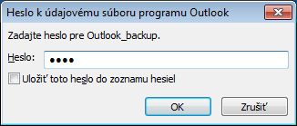 Outlook Data File Password dialog box