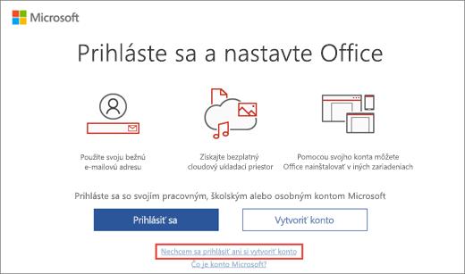 Zobrazuje prepojenie, na ktoré kliknete, keď chcete zadať kód Product Key programu Microsoft HUP