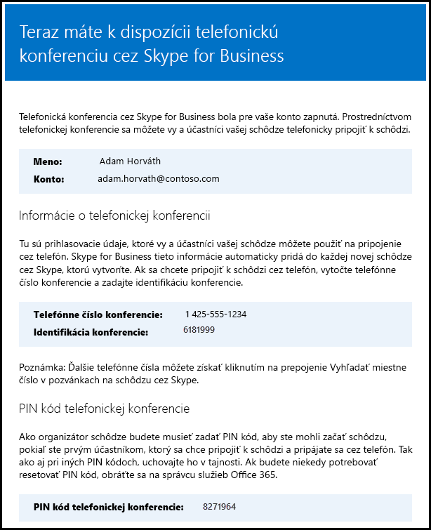 Skype for Business – overenie licencie