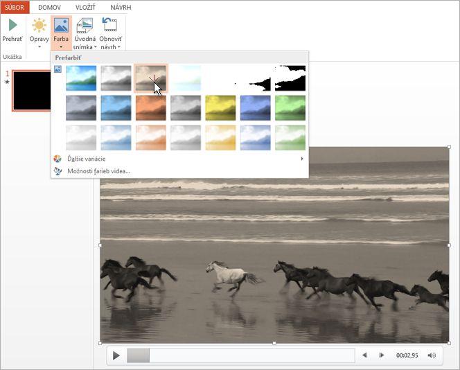 Zmena farby videozáznamu