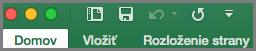 Office2016 pre Mac Panel s nástrojmi Rýchly prístup