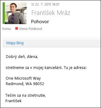 Doplnok Mapy Bing