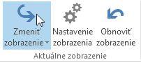 Zmena zobrazenia programu Outlook