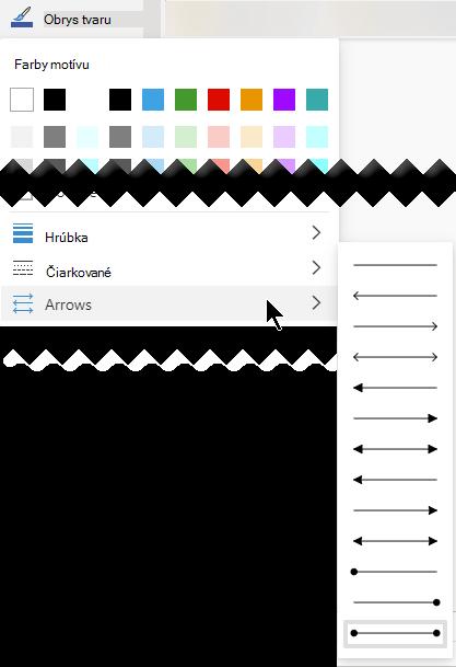 Visio pre web poskytuje viaceré možnosti smeru aštýlu šípok.
