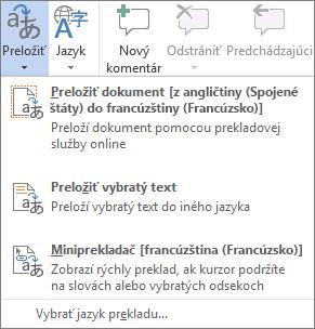 Preklad dokumentu alebo správy