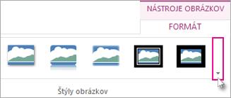 Viac štýlov orámovania zobrazíte kliknutím na tlačidlo Ďalšie.