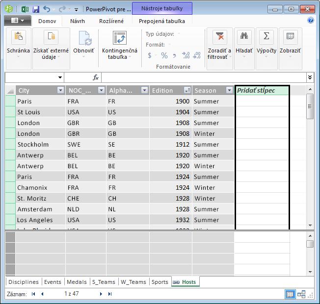 Použitie stĺpca Pridať stĺpec na vytvorenie vypočítavaného poľa pomocou jazyka DAX