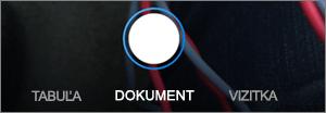 Skenovacie možnosti OneDrive pre iOS